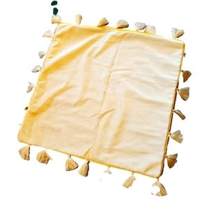 Throw pillow cases x 2 yellow velvety NWOT